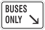 Buses Only with Arrow
