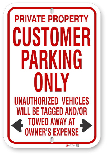 1cpr02 customer parking only with red graphics by all signs co