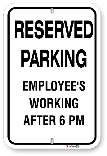 1EP001 Reserved Parking for Employee's Working