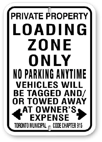 1NPZ1 No Parking Loading Zone Sign code 915