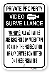 1NT003 Video Surveillance Warning Sign