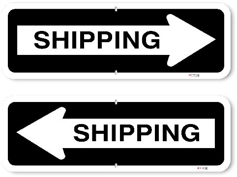 1OWR05 Aluminum One Way Shipping Sign