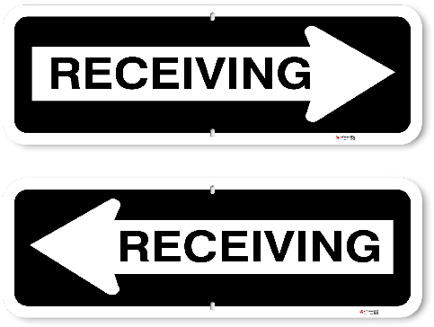 1OWR06 Aluminum One Way Receiving Sign