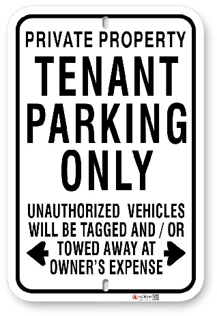 1tp004 private property tenant parking only sign made by all signs co