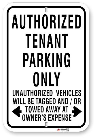1tp006 tenant parking only sign made by all signs co