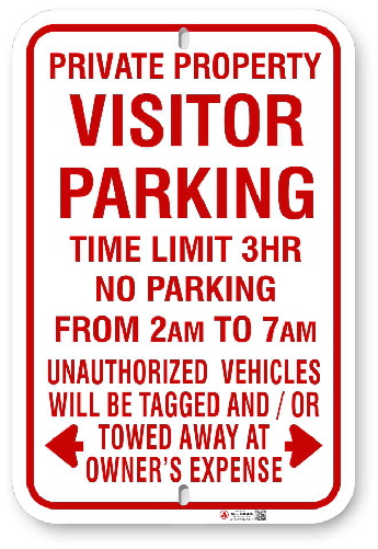 1VPR01 Visitor Parking with Time Limit and Hours Open sign with Toronto Municipal Code Chapter 915