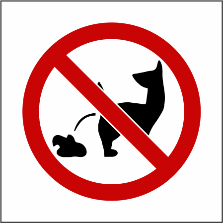 "10"" x 10"" Aluminum No Dog Poop Warning Sgn Toronto"