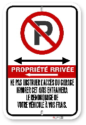 2FFRC2 French Canadian Fire Route sign