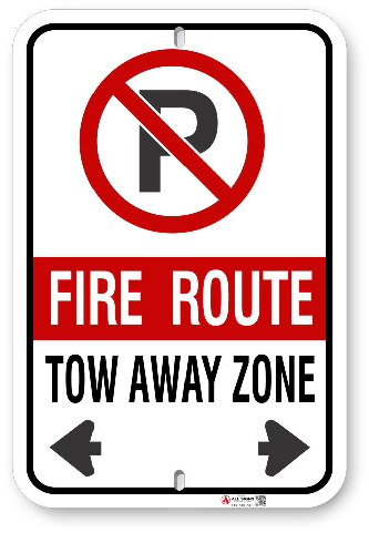 2FRC02 Standard Toronto - Scarborough Fire Route sign
