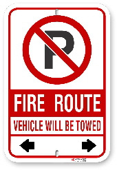 2MFR61 Mississauga Fire Route Sign