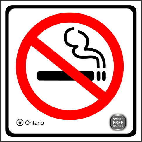 2NS002 No Smoking Sign  Ontario