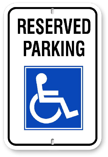 2RH001 Handicap Reserved Parking Signs