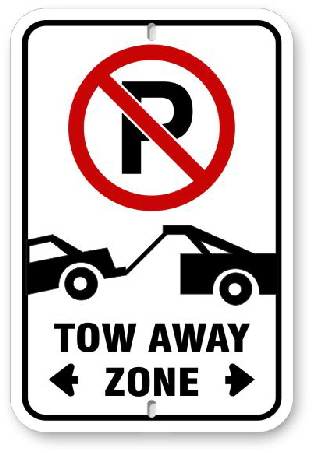2TA001 No Parking Tow Away Parking Sign