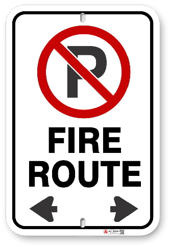 2FR01 City of Brampton Fire Route sign