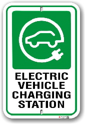 EV002 Electric vehicle parking only sign made by all signs co toronto