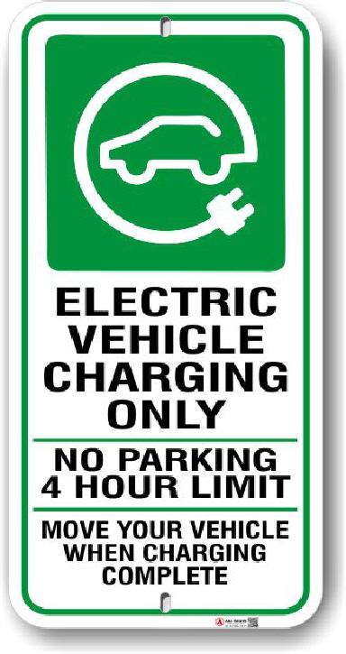 ev003 electric vehicle parking only sign made by all signs co toronto