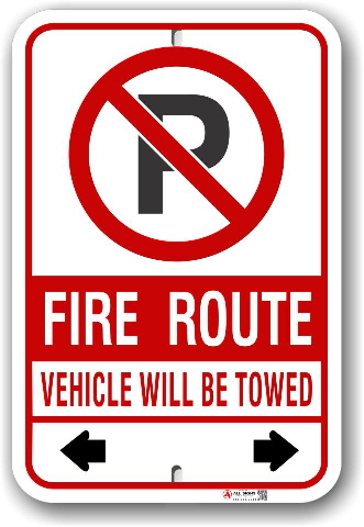 fr-6 mississauga fire route sign