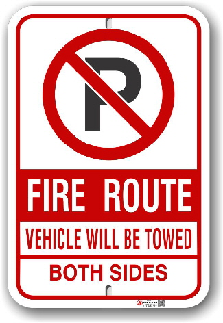 fr-7 mississauga fire route sign