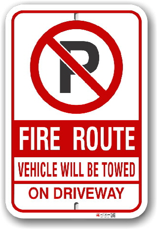 fr-8 mississauga fire route sign