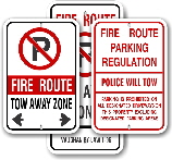 Fire Route Signs for Toronto & Mississauga