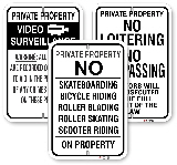 No Tresspasing Signs