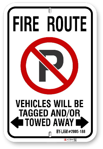 2MFR01 City of Markham Fire Route sign By-Law 2005-188 by ALL Signs Co.jpg